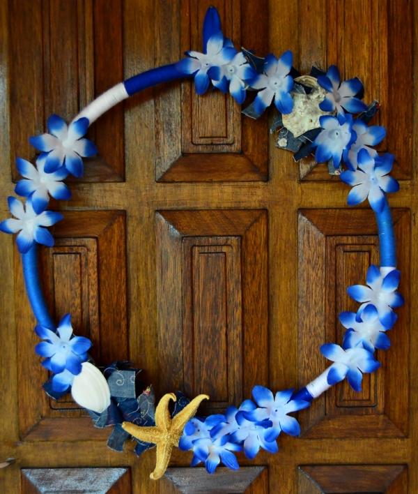 Blue Ombré Holiday Wreath6